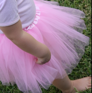 little girl in pink tutu